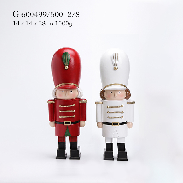 2/A Polyresin Nutcracker Soldier Figurine