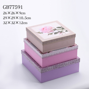 3pcs Nesting Square Gift Boxes