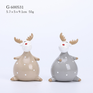 2/A Polyresin Cartoon Christmas Deer