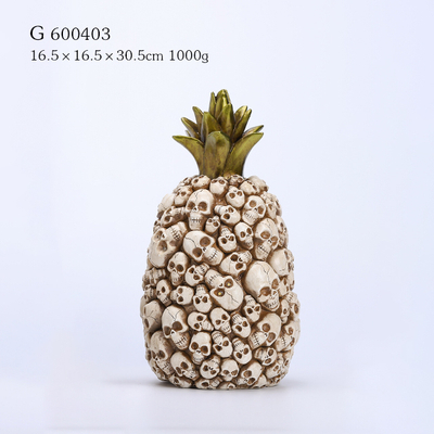Polyresin Halloween Pineapple with LED