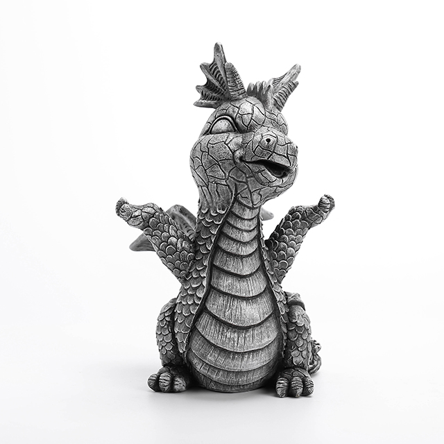 3/A Medium Size Polyresin Dragon Deco